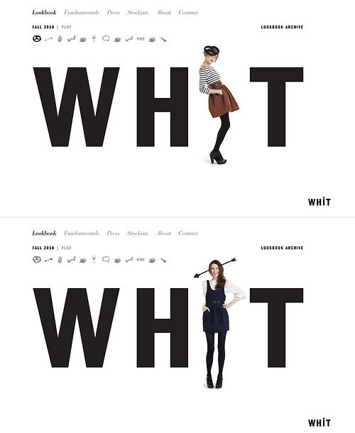 Former homepage for Whit (via site inspire)