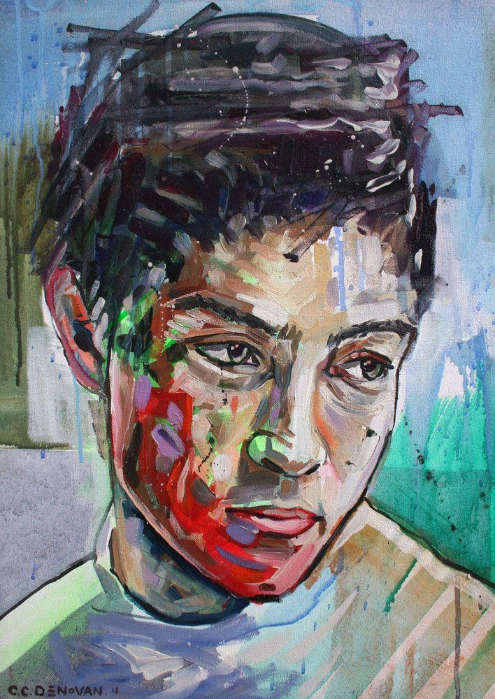 Deco II - Painting by Chris Denovan