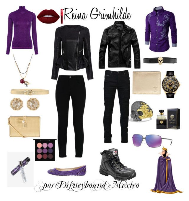 """Reina Grimhilde"" by disneybound-mexico on Polyvore featuring Disney, Marcelo Burlon, Avenger, Alexander McQueen, Hero, Croton, David Yurman, PENHALIGON'S, Gucci and STELLA McCARTNEY"