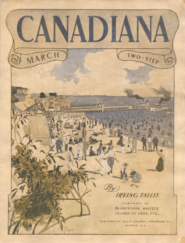 Illustrated cover of the sheet music for CANADIANA MARCH, by Irving Tallis