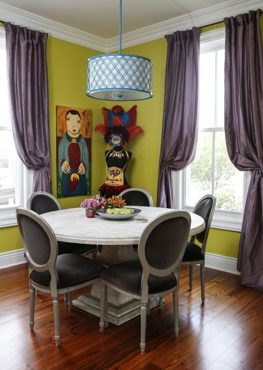 A Colorful New Orleans Home. The Lamp Shade Could Be Recreated Using A  Craft Stencil