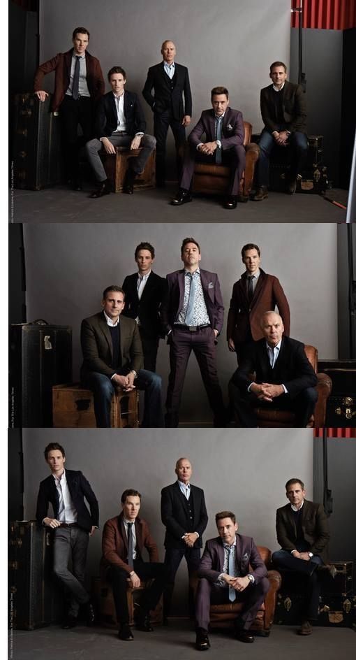 Robert Downey Jr., Benedict Cumberbatch, Eddie Redmayne, Steven Carrell and Michael Keaton. 2015