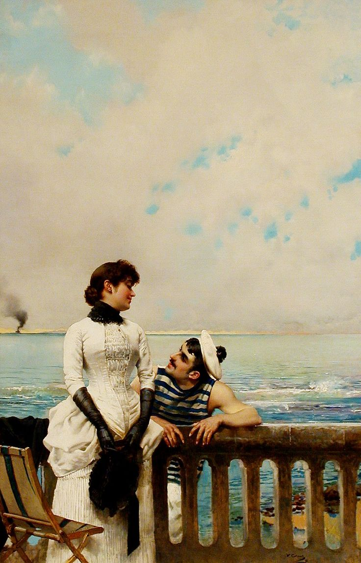 When Love Is Young, 1883 - Vittorio Matteo Corcos (Italian, 1859-1933)