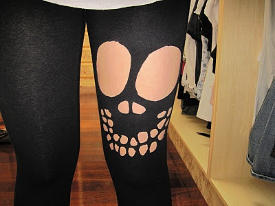 Young and Impressionable: DIY: Skeleton Leggings