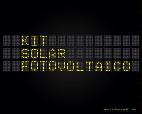 Kit solar fotovoltaico han prendido para aplicaciones residenciales y comerciales. Tienen sentido ambiental, algo que siempre ha sido una fuerte preocupación del estado y sus residentes. Prueba este sitio http://www.cambioenergetico.com/12-energia-solar-fotovoltaica para obtener más información kit solar fotovoltaico.