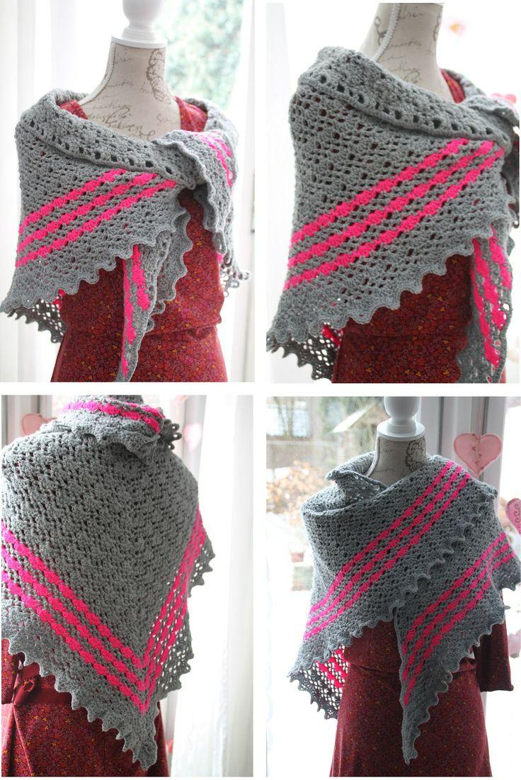 Lekker warm sjaal omslagdoek haken