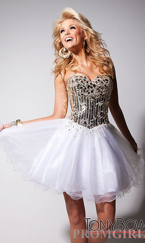 Short Sequin Prom Dress by Tony Bowls