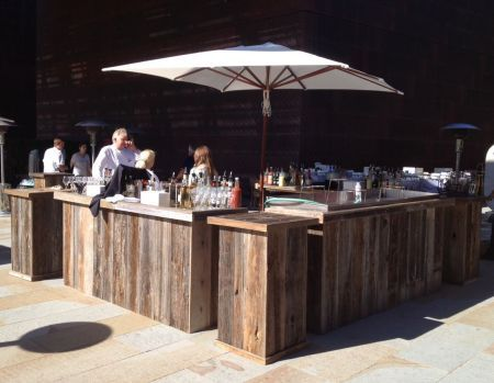 reclaimed wood bars and kiosks  Furniture  Pinterest  Cherries, Furniture  and Cherry blossoms