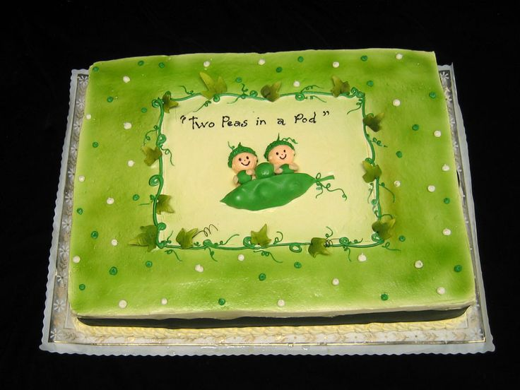 Baby shower for #twins #babyontheway pode fazer para topo de torta de pao tambem, with unflavored food coloring on the mashed potato.