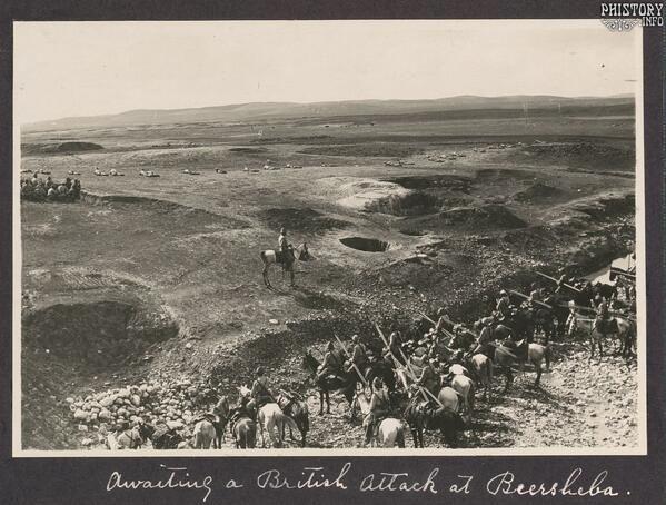 """""""İngiliz Saldırısını Bekleyen Osmanlı Askerleri,Filistin,I.Dünya Savaşı..."""""""