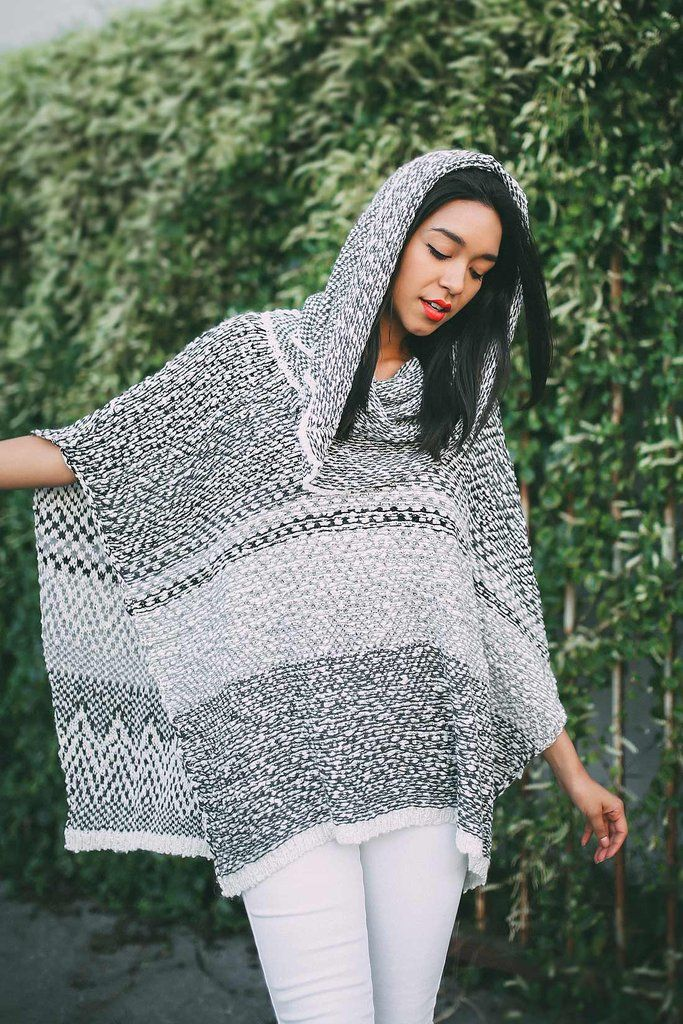 """Weave Blaze Poncho  Multi colored knit poncho with a relaxed slip on style. Cowl neck line with open sides. Easy to slip over any maxi dress or casual outfit.   *Dry Clean Only *45% Acrylic/40% Nylon/15% Mohair *37""""/94 cm Top to Bottom - Measured on One Size *Imported"""