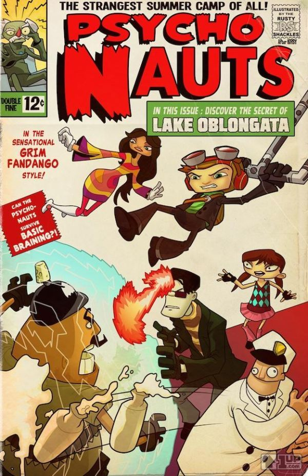 Classic Video Games Reimagined as Comic Books - Psychonauts