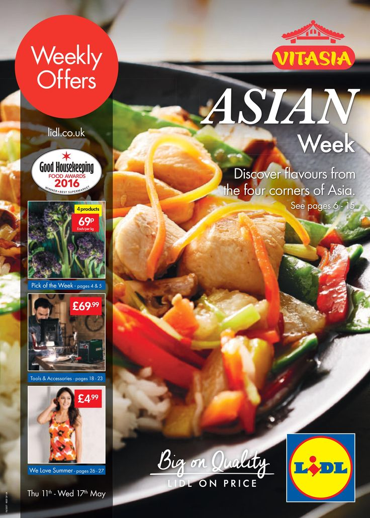 Lidl Offers Leaflet 11th May-17th May 2017: Asian Week, Tools & Accessories, Summer Offers and more in this Lidl Catalogue.