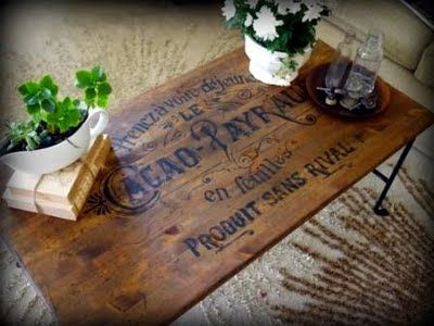 DIY vintage look table-amazing