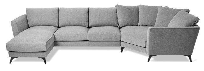 Produktbild - Weekend, 3-sits soffa med cosy hörn och schäslong, vändbar
