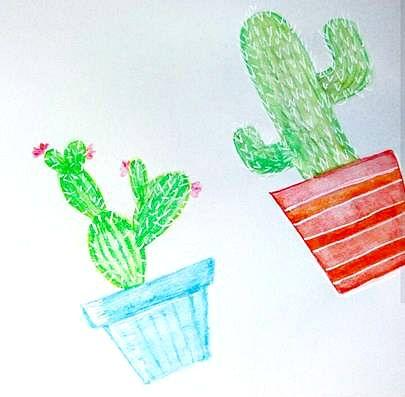 IG: @maggie_creates_  cactus watercolor