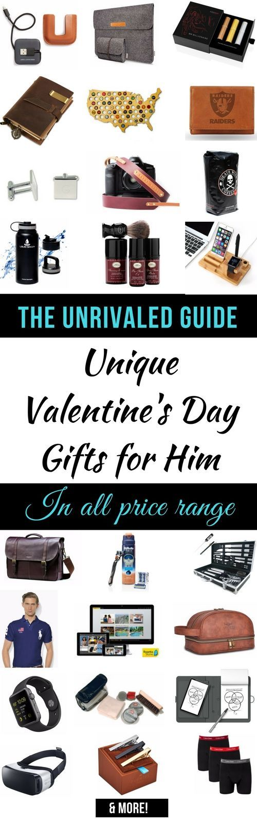 50+ unique Valentine's Day gifts for him | Check out this list for the best gift ideas for men that he'll love. Find the perfect gift for him that is within your budget regardless of how difficult it is shopping for him. Valentines day gifts for him | val