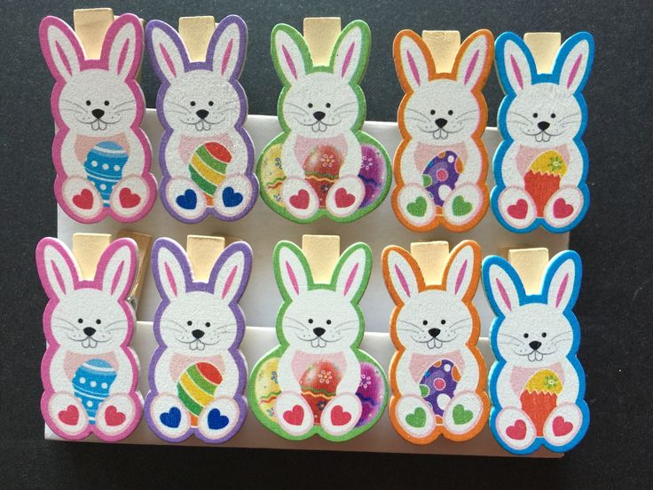 7 best easter party favor images on pinterest wooden pegs 120pcs bunny wooden novelty pegsphoto paper clips cute easter party gifts negle Image collections