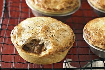 Lamb, mint and potato pies