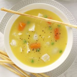 20 minute chicken noodle soup- add fresh corn on cob to it for chicken corn soup