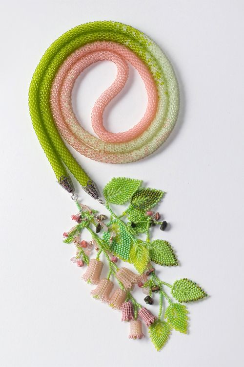 Beadwork by Elena Gladneva in two of my favorite colors
