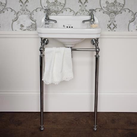 Burlington Cloakroom 2TH Edwardian Basin and Chrome Wash Stand Profile Image