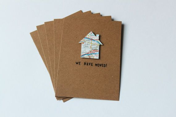 NEW! 'We have moved' Cards -  Set of 5!
