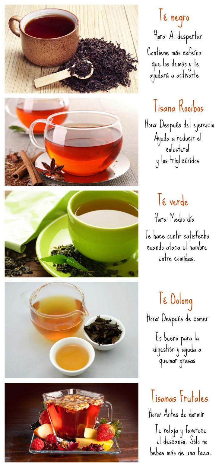 ¿A qué hora beber cada tipo de té?