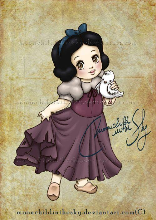 Crianças Disney Princesas Branca de Neve