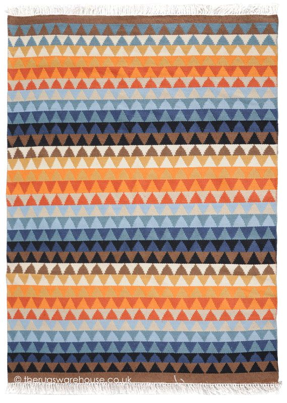 Talexo Rug A Multi Coloured Hand Woven Outdoor Made From Pet