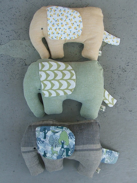 Cute fabric elephants. Nx