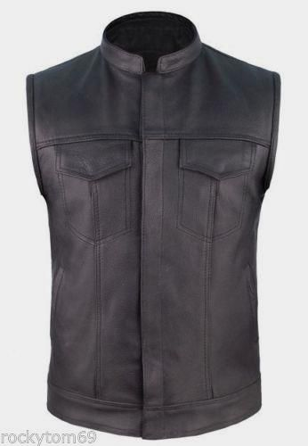 leather cowhide concealed carry vest $55.95 #concealedcarryvest #motorcyclevest #leathervest http://leatherdropship.com