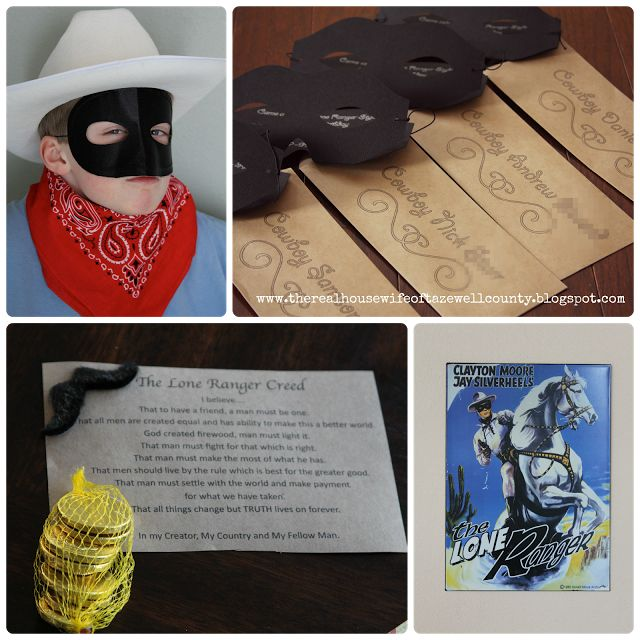 Lone Ranger Themed Birthday Party, Recipes, Games and MORE....