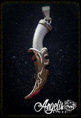 Engraved Dagger Pendant