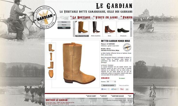 Bottes Camarguaises Le Gardian - Boutique aux Saintes-Maries-de-la-Mer - www.legardian.com