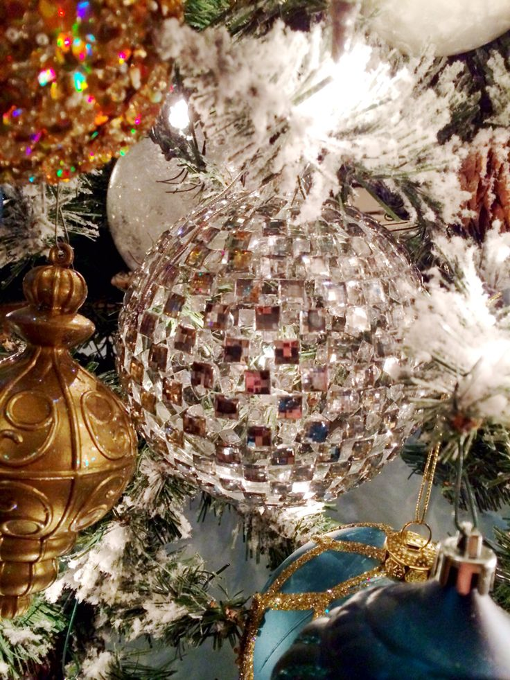 These mirror ball ornaments are some of my new favorites :)