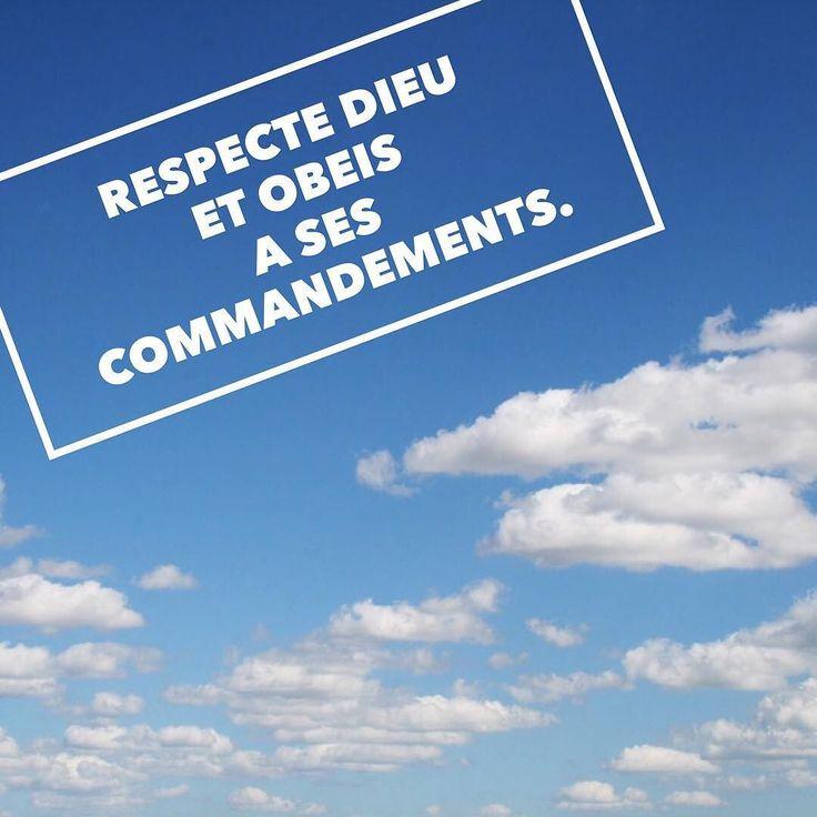 Ecclésiaste 12:13 #secret #vie #respect #obéir #santé #vieéternelle #LaBible #bible #verset #versetdujour #versetbiblique