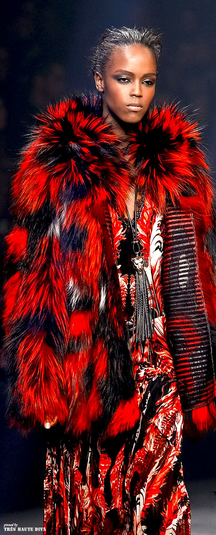 Milan Fashion Week Roberto #Cavalli Fall/Winter 2014 RTW #milanfashion #DecoArt24.pl