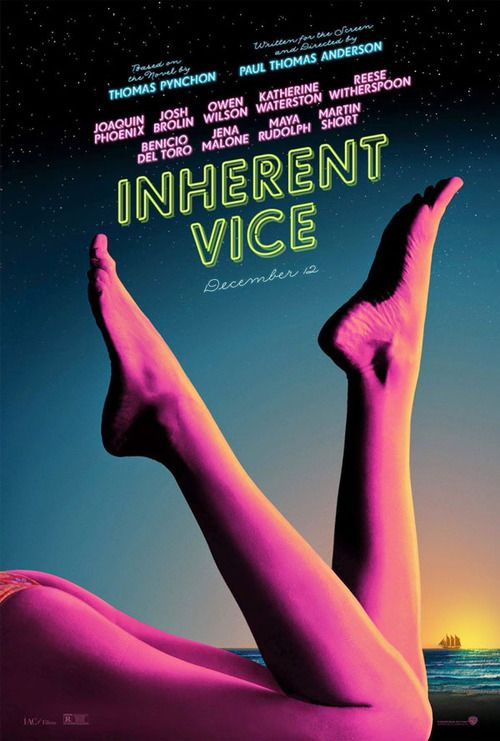 INHERENT VICE (Paul Thomas Anderson, USA, 2014) / Image sublime, film traduit du livre : mauvaise narration.                                                                                                                                                     Plus