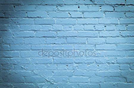 Downloaden - Blauw geschilderde oude bakstenen muur grunge achtergrond — Stockbeeld #50260577