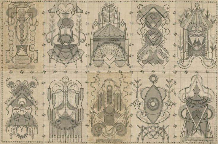 Beautiful Illustrations by Louise Despont - Socialphy: Antiques Ledger, Amphora Graphite, Geometric Shapes, Color Pencil, Louis Despont, Book Pages, Louise Despont, Ledger Paper, Ledger Book