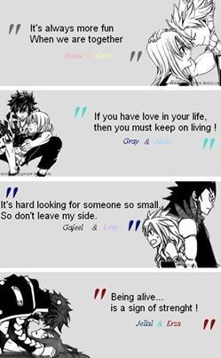 Fairy tail couple quotes. Doesn't get better than this.