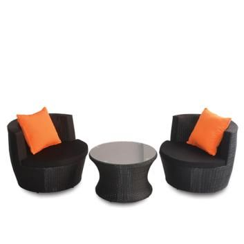 Congo 3 Pieces Stackable Outdoor PE wicker Setting