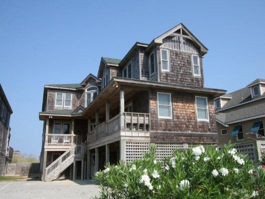 11 Bedroom Oceanfront Rental House in Nags Head, part of the Outer Banks of North Carolina. Includes Elevator, Private Pool, Hot Tub