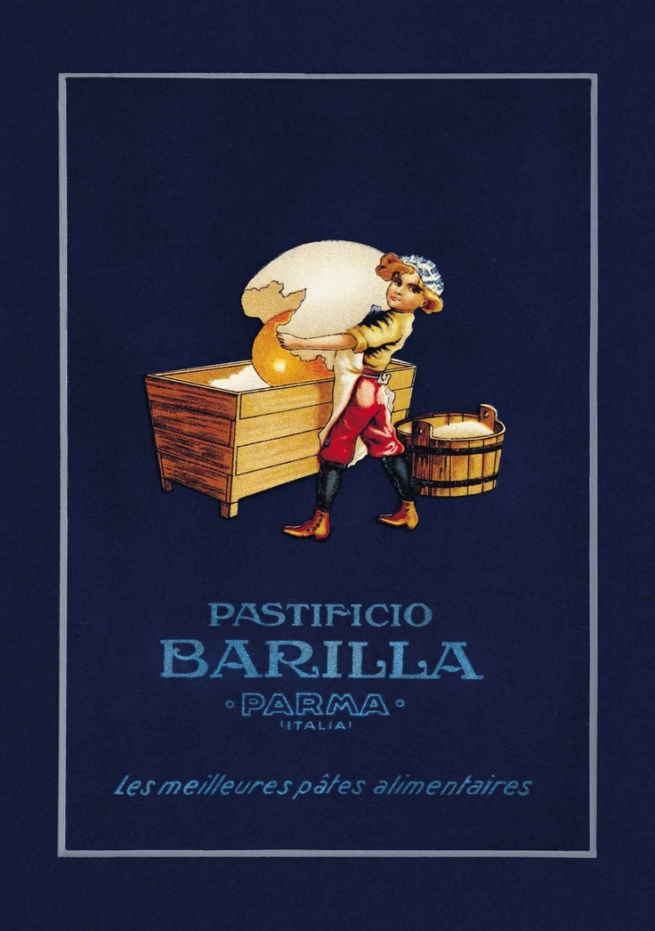 Say Hi! To Design: Vintage Package Design of Barilla's Pasta (What Giant Chicken?)