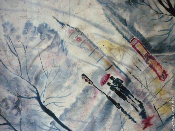 платки и панно в технике батик Виктории Игнатовой