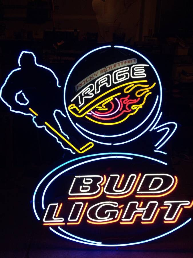 Colorado Rage Bud Light Neon Sign Glass Tube Neon Light