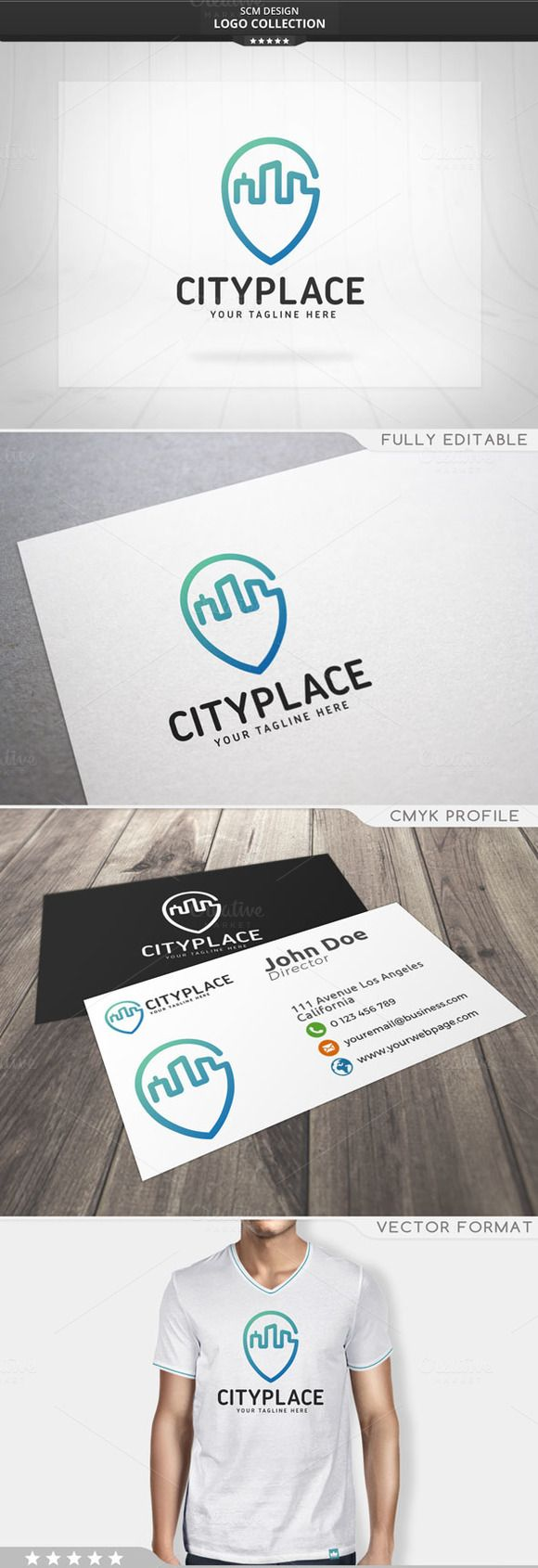 City Place Logo by Seceme Shop on @creativemarket