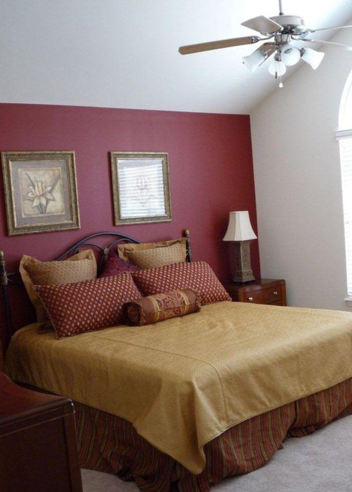 Bedroom Burgundy Color Wall Novocom Top