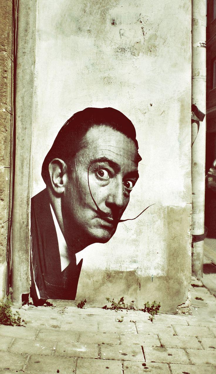 Salvador Dali Street Art Wheatpaste ★ @Romeotees #nicosia #cyprus